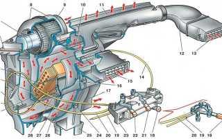 Как замениться вентилятор печки ваз 2115