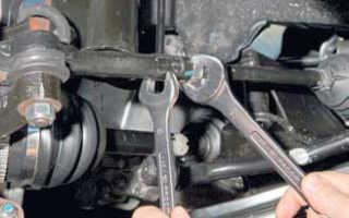 Замена рулевых наконечников лачетти 1 4