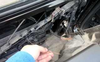 Как перемотать тросик стеклоподъемника на ауди а6 с5