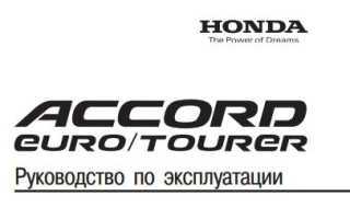 Honda accord 1994г ремонт