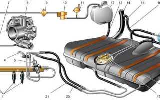 Подающий топливопровод ваз 2110