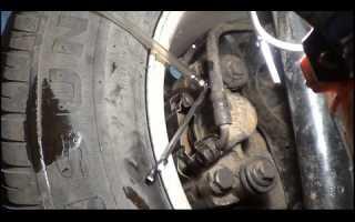 Замена передних тормозных колодок и прокачка тормозов